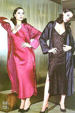 Сорочка и полупрозрачный халатик Andra, Италия 1645_838 фото