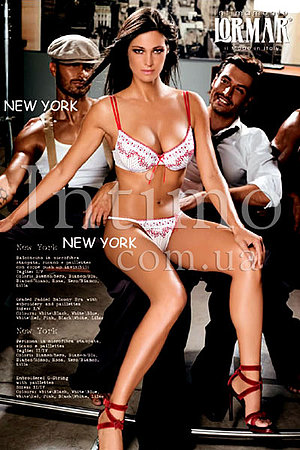 Бюстгальтер push up и трусики стринг Lormar, Италия Newyork_Newyork фото