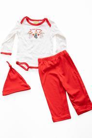 Комплект детский: бодик, штанишки и шапочка , хлопок
