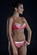 Комплект: бюстгальтер push up и трусики бразилиана Rosa Selvatica, Италия CM421 фото