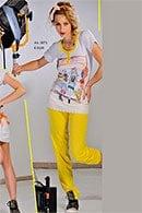 Домашний костюм, хлопок Di Benedetto, Италия 3873 фото