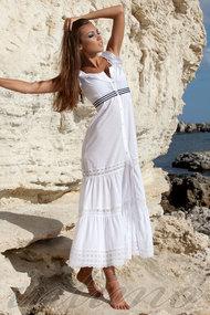 Товар с дефектом, пляжное платье, хлопок
