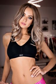 Top sports bra with soft cup cotton