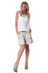 Tank top and shorts, linen