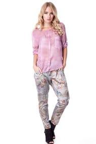 Костюм: блуза и брюки, вискоза-хлопок