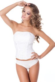 Corset with compacted cup
