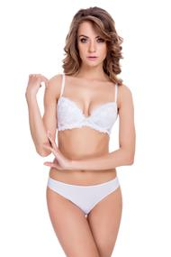 Linen: push up bra and panties slip