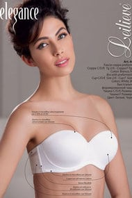 Defective goods: balconette bra with a cup compacted