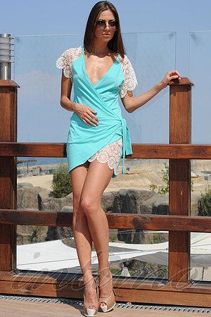 Товар с дефектом: пляжный халат, хлопок Ora, Украина 400106/Д фото