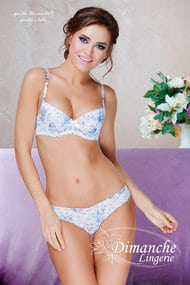 Linen: balconette bra with a cup compacted and panties Brazilian