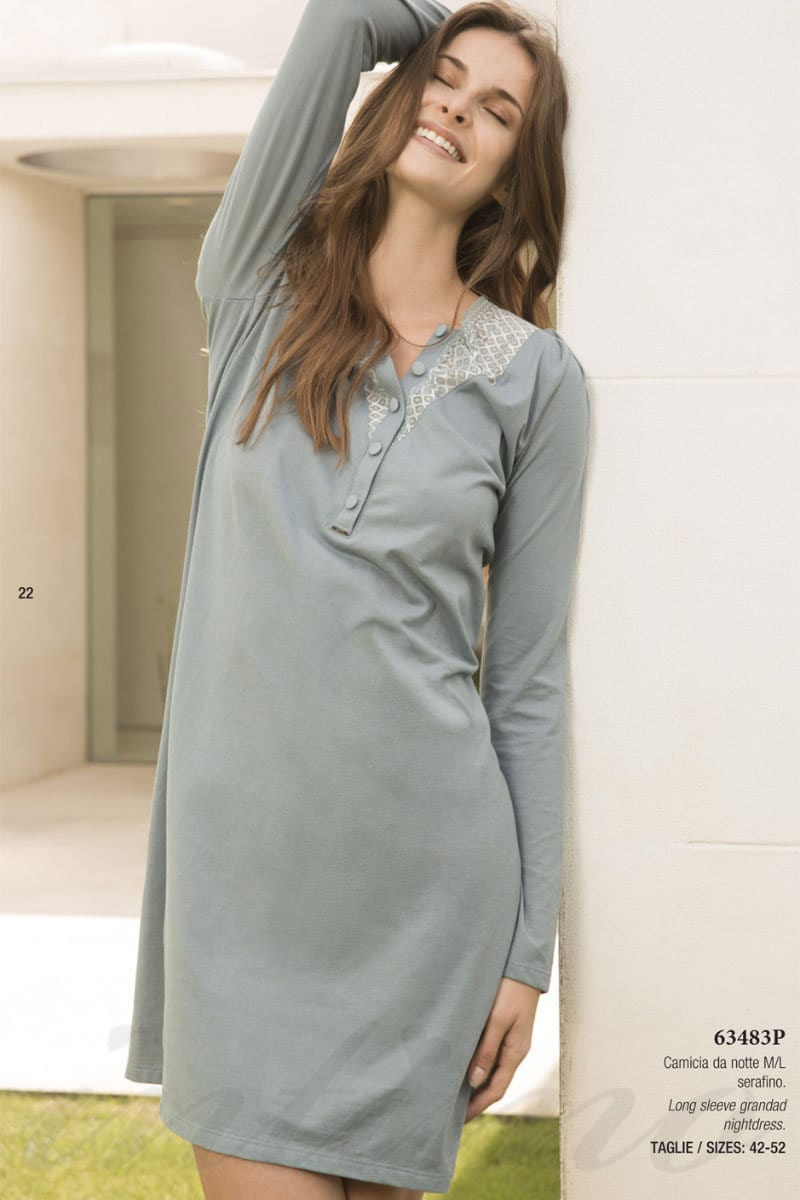198efa4a3792 Домашнее платье Lormar 63483P (44691) цена в Киеве, домашняя одежда ...