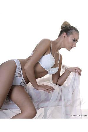 Комплект белья: бюстгальтер push up и трусики бразилиана, с кристаллами Swarovski Prelude, Румыния YS123-YD123 фото