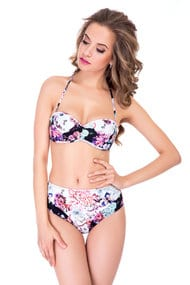 Swimsuit balkonet push up, melting slip