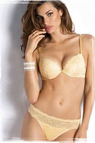 Set underwear: bra push up gel and panties Brazilian