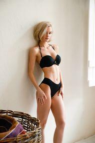 Swimsuit balkonet push up, melting slip (Swimwear)