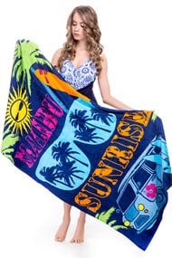 Полотенце пляжное, хлопок