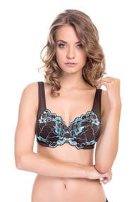 Bra with a soft cup