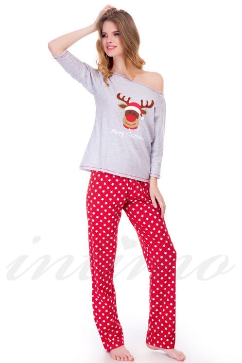 6cd3c40e2aee5 Товар с дефектом: пижама, хлопок Sensis, Польша Merry Christmas-Piz фото