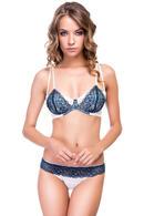 Комплект белья: бюстгальтер с мягкой чашкой и трусики бразилиана Intimo lingerie, Украина Aqua фото