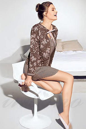Домашнее платье, хлопок Infiore, Италия CAN631035 фото