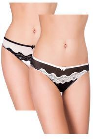 Panties string, 2 pieces, cotton