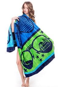 Товар з дефектом: рушник пляжне, бавовна