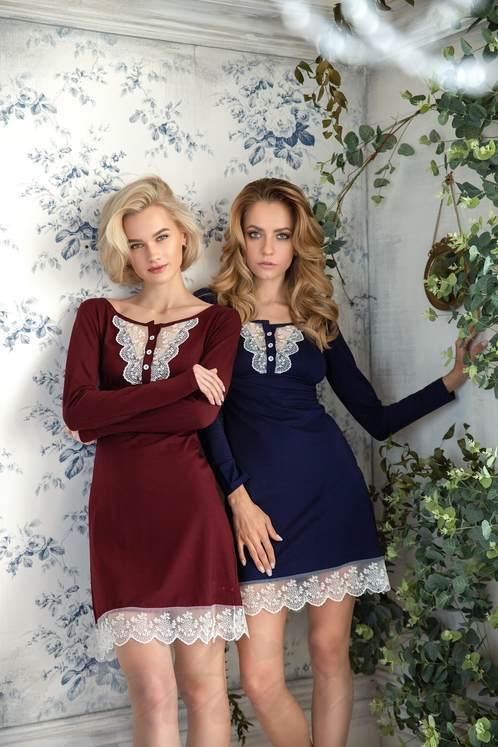 67b8a6844893 Ночная рубашка с длинным рукавом - купить ночнушку(сорочку) с длинным  рукавом по отличной цене в Киеве, заказать онлайн в интернет магазине Intimo