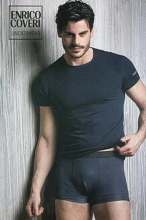 Товар з дефектом: футболка і труси чоловічі boxer Enrico Coveri, Італія EC1620/14 фото