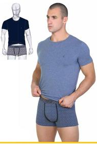 T-shirt and briefs for men's boxer, cotton