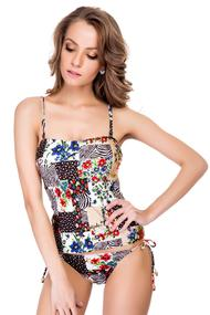 Top of the tankini swimsuit with a tight cup