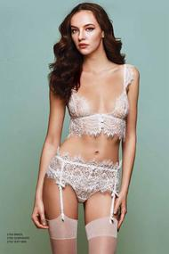Set of underwear: bra with soft cup and Brazilian panties
