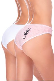 Panties slip, 2 pieces, cotton