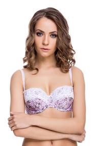 Bra with soft cup