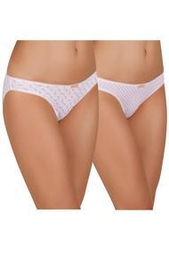 Panties slip, 2 pieces, cotton