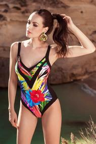 Swimsuit with compacted cup and pareo