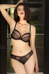 Set of underwear: bra with a condensed cup and panties slip