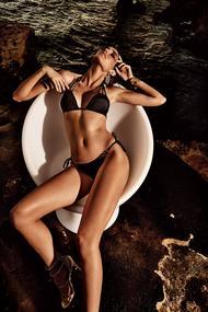 Купальник бикини с уплотнённой чашкой, плавки бразилиана
