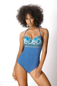 Swimsuit with a cup compacted