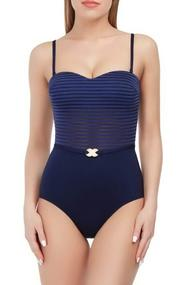 Balconette swimsuit with a cup compacted