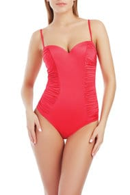 Swimsuit with compacted cup