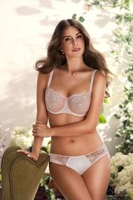 Underwear: bra with a soft cup and slip panties