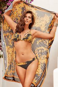 Swimsuit with pareo with a cup compacted, melting slip
