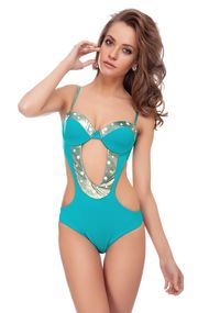 Monokini swimsuit with compacted cup