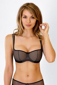 Bra with compacted cup