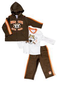 Комплект для мальчика: кофта с длинным рукавом на молнии, джемпер и штанишки , хлопок