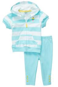 Детский костюм: Кофточка с коротким рукавом и леггинсы, хлопок