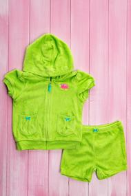 Детский костюм: Шортики и кофточка с коротким рукавом на молнии, хлопок