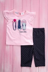 Костюмчик для девочки: футболка и штанишки, хлопок