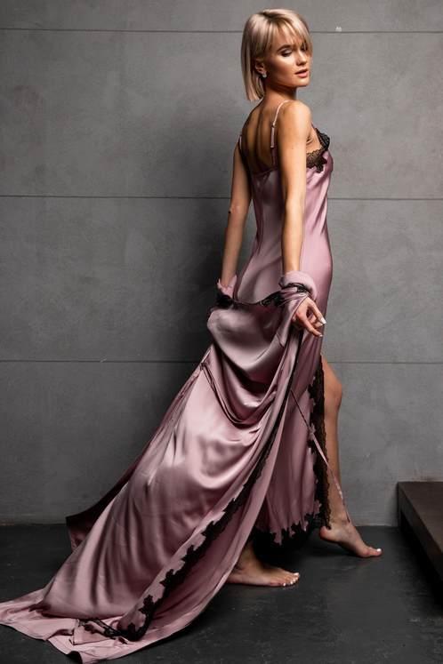 8db83f93acc912c Атласные ночнушки - купить атласную женскую ночную рубашку(сорочку) по  выгодной цене в Киеве и в Украине, заказать в интернет магазине Intimo