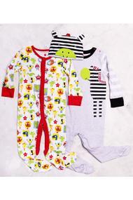 Детский комплект: Человечек, 2 шт. и шапочка, хлопок